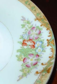 Vintage Diamond Hand Painted Japan Floral Saucer Plate