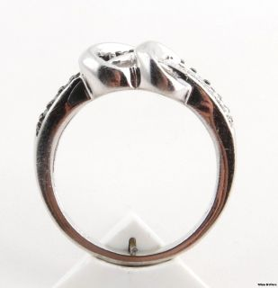 Black White Diamond Heart Ring Sterling Silver 0 29ctw Size 6 75 Women