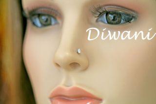 10 Ct Reale VVS Diamante Solitario 14k Naso Anello in Oro Labbro