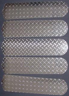 New DIAMOND PLATE SILVER GARAGE MOTORCYCLE TRUCK 52 Ceiling Fan BLADES