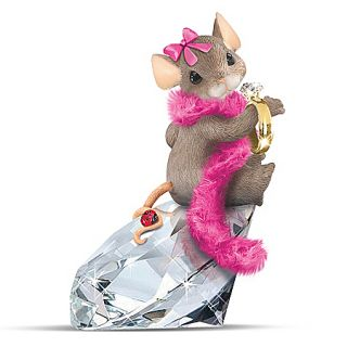 Charming Tails Diamond Dreamer Maxine Mouse Figurine by Hamilton