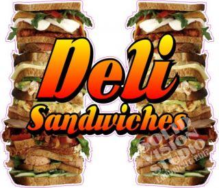 14 Deli Sandwiches Bar Restaurant Concession Trailer Vinyl Food Menu