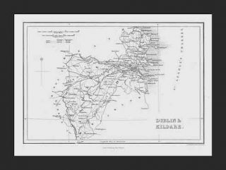 dublin and kildare counties ireland 1842 map this very scarce map is a