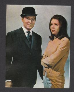 The Avengers Diana Rigg Patrick McNee TV Series 1968 Spanish Card