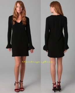 DIANE VON FURSTENBERG $365 Black HAZINA DRESS