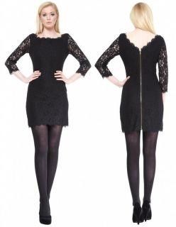 Diane von furstenberg Zarita Lace Black Dress U S Size 6 U K Size 10