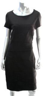 Diane Von Furstenberg Womens Black Trapp Knit Dress Sz 14