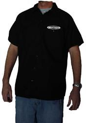 Light Beer Work Shirt New Short Sleeve Button Up Black Budlight