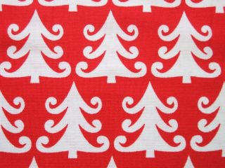 Michael Miller Christmas Tree Farm Red White Holiday Fabric Yard