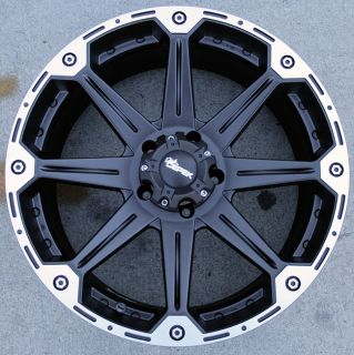 Dick Cepek Torque 22 Black Rims Wheels Dodge RAM 1500