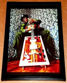 Bo Diddley Blues Legend with Box Guitar Framed Tribute