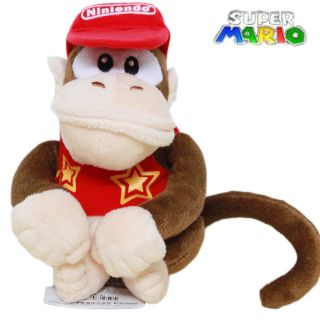 Nintendo Super Mario Diddy Kong Plush Toy Stuffed Donkey Kong Monkey