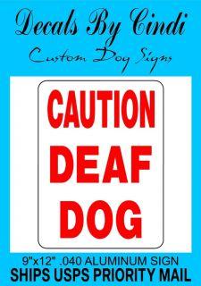 Caution Deaf Dog Sign Vinyl Decal D3702