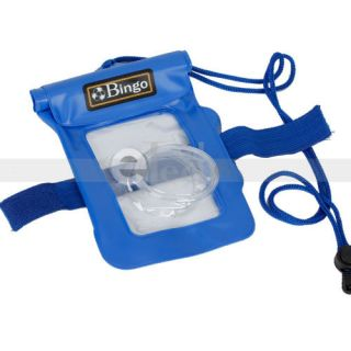Water Digital Camera Case Pouch Dry Bag Beach Case 20M Blue