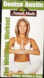Denise Austin Shape Stretch Tone VHS 2003 071083231216