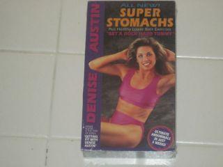 Denise Austin All New Super Stomachs VHS Video New