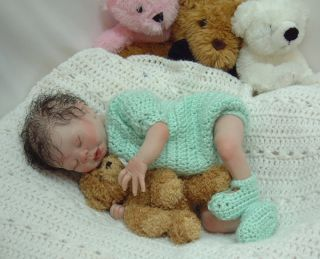 Twin 2 Cute Reborn Baby Girl Doll Kaelin Denise Pratt