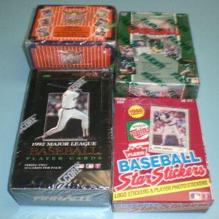 Unopened Baseball Wax Boxes Upper Deck Pinnacle Fleer