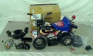 Lil Rider Battery Powered Deputy 3 Wheel Bike, Red/Blue/Black