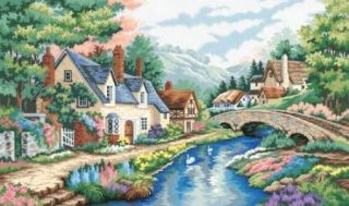 Valley of the River Beck Dimensions Paint by Number 91041 20 x 12 NEW