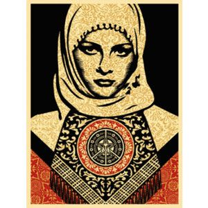 Obey Shepard Fairey Arab Woman RED print mujer Faile FREE GLOBAL