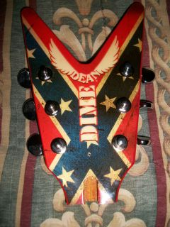 DIMEBAG DARRELL DIXIE REBEL HEADSTOCK WITH CHROME GROVER 3 3 TUNERS