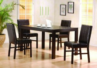 cappuccino dining room table chair set parson chairs description