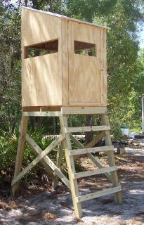 4X6 Hunting blind on Stand Elevated Tower Platform deer turkey Hog