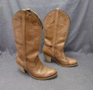 Dingo Womens 6M Cowboy Western Boots 7316 Sandalwood light brown tan w