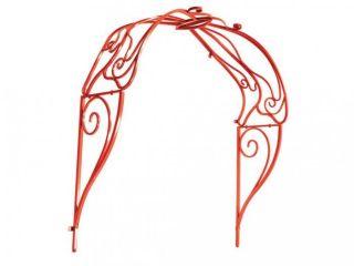Pretty Red Butterfly Design Garden Arbor 21475