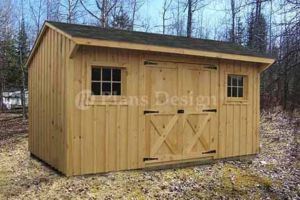 14 Utility Saltbox Roof Style Shed Plans 70814
