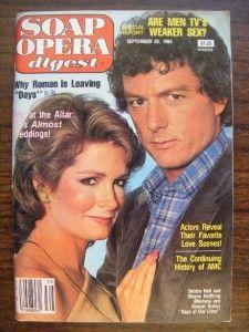 Soap Opera Digest 1984 Deidre Hall Wayne Northrop Days