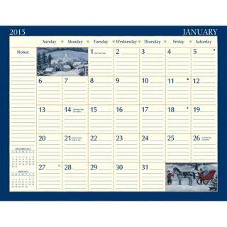 2013 Lang Co FOLK ART Desk Pad Calendar Artwork by Mary Singleton