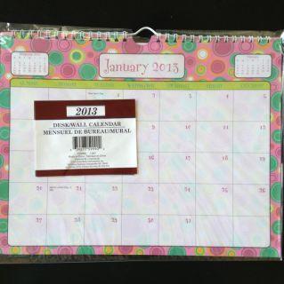 2013 Wall Desk Pad Scheduling Monthly Calendar planner organizer