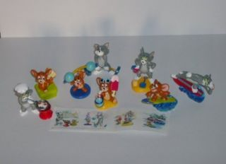 tom jerry kinder 3d set figurines