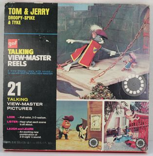 SETS 1973 GAF TALKING VIEW MASTER REELS WINNIE THE POOH & TOM & JERRY