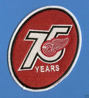 Detroit Red Wings NHL 75th Anniversary Jersey Patch
