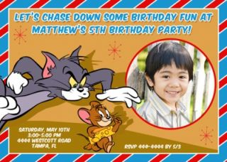tom jerry birthday invitations tom jerry party hats tom jerry chase