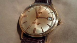 Vintage Omega Automatic Seamaster DeVille Gold Cap and Stainless Steel