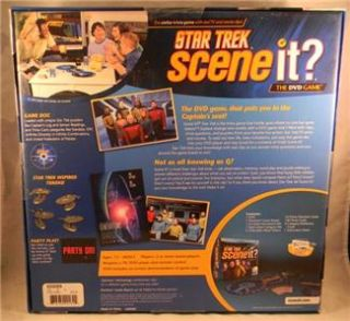 Star Trek Scene It DVD Game Boardgame 2+ Players Ages 13+ Television