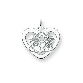 Tigger by Disney in Heart Pendant Charm Sterling Silver