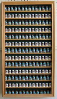182 Thimble Display Case Cabinet with Glass Door Wood