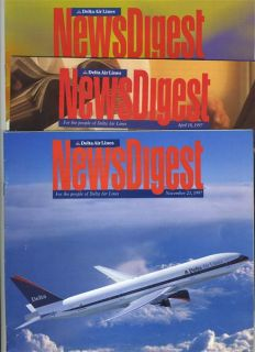 Issues People of DELTA Air Lines News Digest 1995 1997 1999