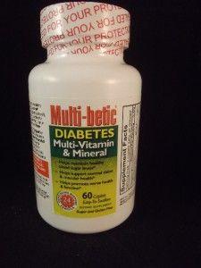 60 Multi Betic Diabetes Multi Vitamin Mineral Maintain Sugar Levels