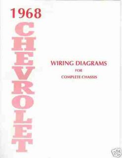 COMPLETE 1968 CHEVROLET WIRING DIAGRAMS FOR COMPLETE CHASSIS