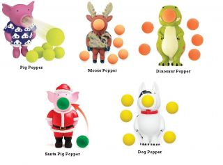 Christmas Santa Pig Popper Dog Dino Pig or Moose Popper Occupational
