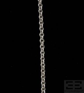 Judith Ripka Sterling Silver & Diamond Circle Pendant Necklace