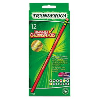 12 Dixon Ticonderoga Erasable Colored Pencils Assorted