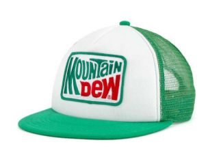 Mountain Dew Foam Trucker Snapback Hat Cap New RARE Green Adjustable