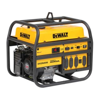 Dewalt 4500 Watt Commercial Generator w Honda Engine DXGN4500 New